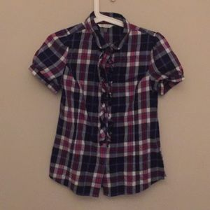 Other - Blue and Red Plaid Button Up